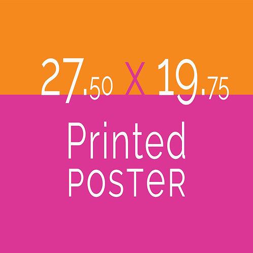 27.50 x 19.75 Printed Poster