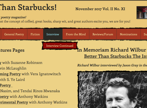 Poems Published in Better Than Starbucks