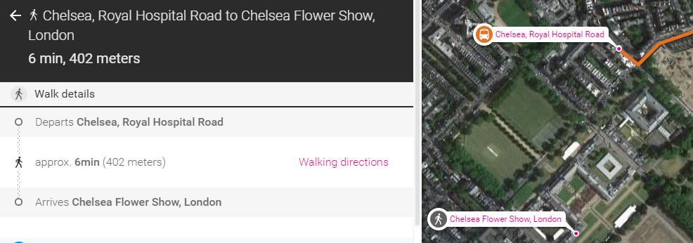 walk to Chelsea