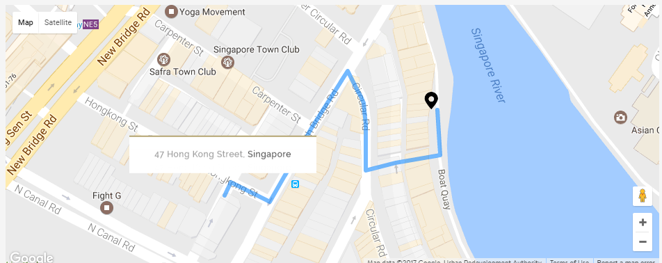 walking directions to boat quay