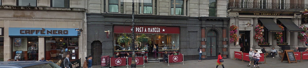 Caffe Nero, Pret a Manger and The Admiralty