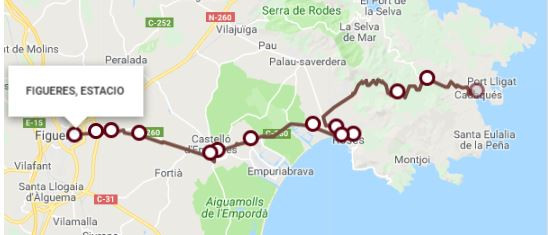 bus from Figueres to Cadaques