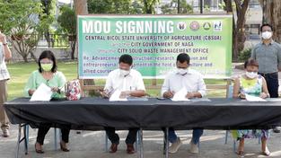 Naga, CBSUA ink pact on zero-waste management