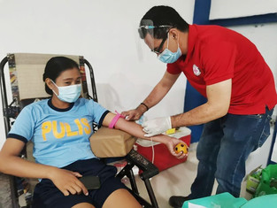 Red Cross, PNP hold blood drive