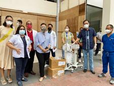 VP Robredo nag-donar oxygen machines sa BMC