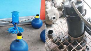 Naga's SLF fixed with aerators, sewage pump
