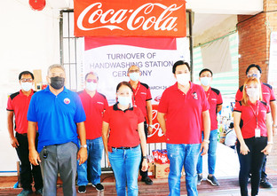 Coca-Cola works with local communities to put up handwash stations across the PH