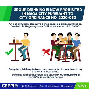 City dads enact ordinance banning group drinking