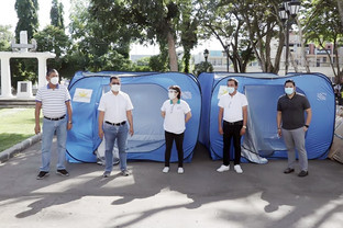 VP Robredo nagdonar nin 200  quarantine cubicles sa City Hall