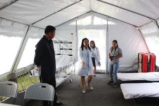 Inside the EREID tent