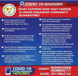 Covid Advisory