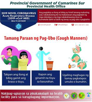 Tamang Paraan ng Pag-ubo (Cough Manners)