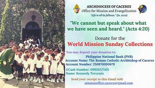 Catholics Celebrate World Mission Sunday