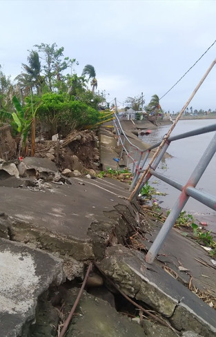 Flood destroys Camaligan  river revetment structure