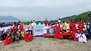 Mission Station in Lagonoy celebrates Season of Creation by clearing coasts