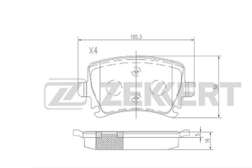 Rear Brake Pads- Audi, Skoda, Volkswagen, Seat.