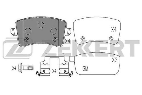 Brake Pad Set, disc brake - Audi A4, A5, Q5