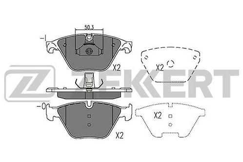 Brake Pad Set, disc brake - BMW