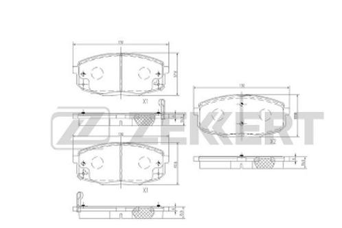FrontBrake Pads - Hyundai, Kia, Renault.