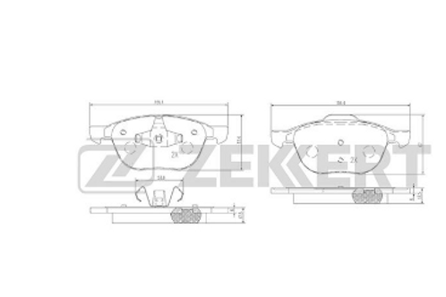 Brake Pad Set, disc brake - Volvo, Mazda, Ford