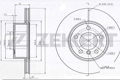 Front Axle Brake Discs - BMW 1,2,3,4,series