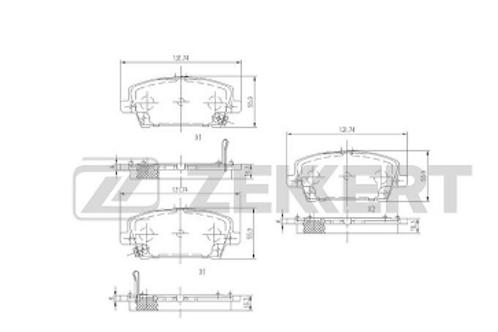 Front Brake Pads set - Honda Civic VIII