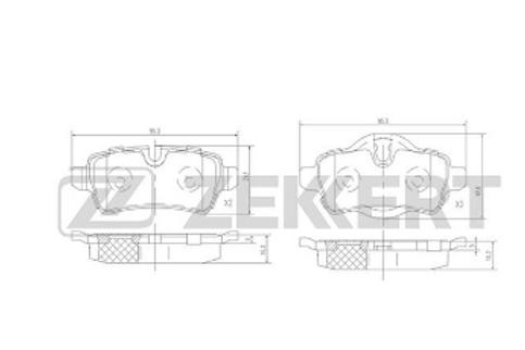 Rear Brake Pads  - MINI Cooper