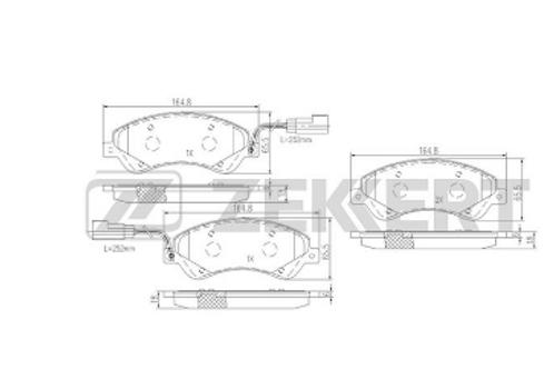 Front Brake Pads Set - Ford Transit.
