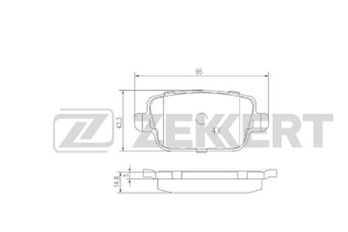 Rear Brake Pads - Ford Focus, Kuga, Mondeo, Galaxy, S-Max