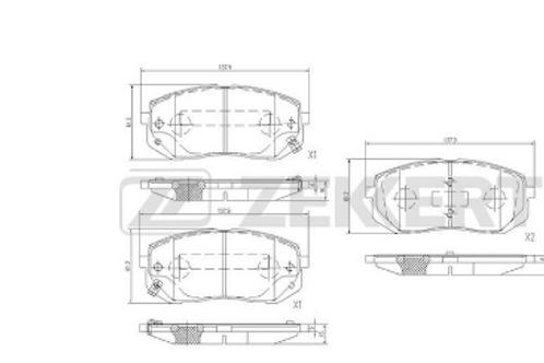 Front Brake Pads Set - Hyundai i40, i40 CW, ix35; KIA Sportage.