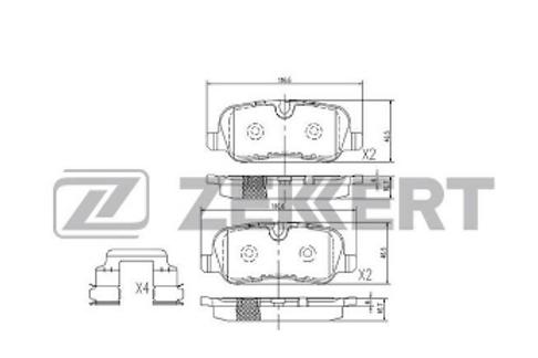 Brake Pads Set, disc brake - Land Rover Discovery| Range Rover Sport
