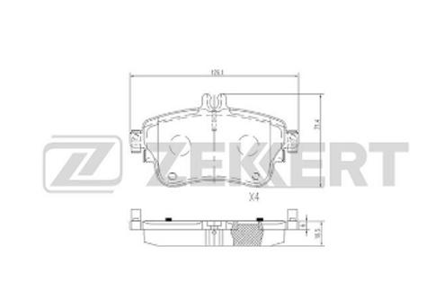 Front Brake Pad Set, disc brake - Mercedes-Benz A-Class, B-Class