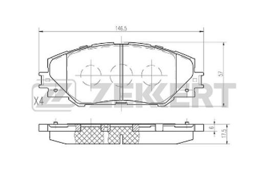 Front Brake Pads - Toyota Auris, Prius, Rav4.