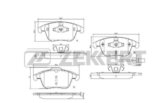 Front Brake Pads - Audi A4.  A5