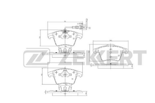 Front Brake Pads Set - VW Trasporter, Multivan, Caravelle.