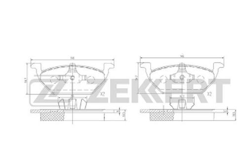 Front Brake Pads Set- Skoda,Audi, Volkswagen, Seat