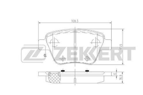 Rear Brake Pads Set - Audi, Skoda, VW, Seat