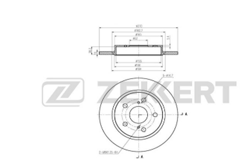 Rear Brake Disc - Toyota Auris, Corolla