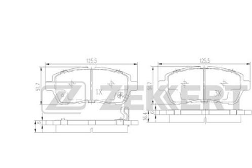 Front Brake Pads -Suzuki Swift, Ford Fiesta, Mazda 2, Daihatsu, Subaru.