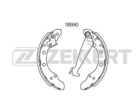 Brake Shoe Set - Audi, Skoda, Seat, VW