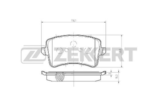 Brake Pad Set, disc brake -Audi A4, Audi A5, Audi Q5