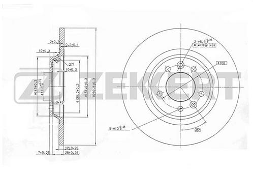 Brake Discs - Citroen C5 . Peugeot 407, 508
