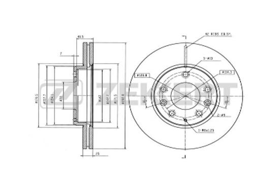 Front Brake discs -Mazda 6