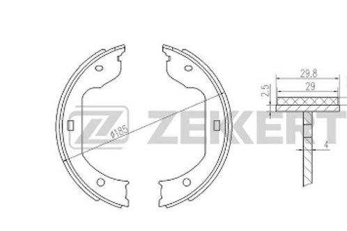 Brake Shoe Set - VW Transporter, Touareg,