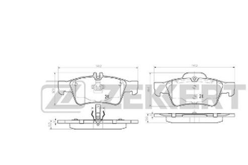 Brake Pad Set, disc brake - Mercedes E-Class, CLS, SL,  S- Class