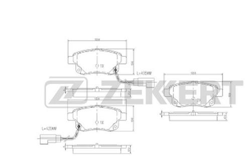 Rear Brake Pads - Ford Transit