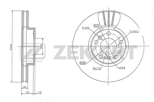 Brake Disc -BMW X3,  X5