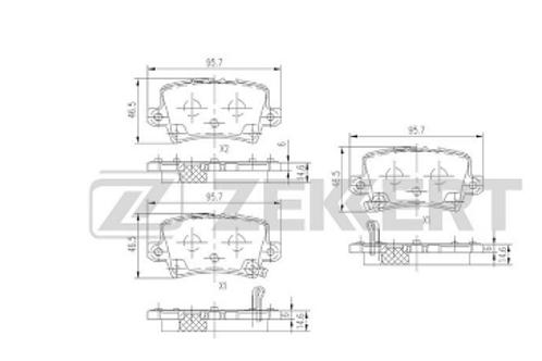 Rear Brake Pads set - Honda Civic.