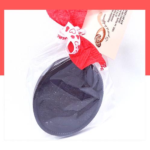 Panier de fleurs au chocolat noir