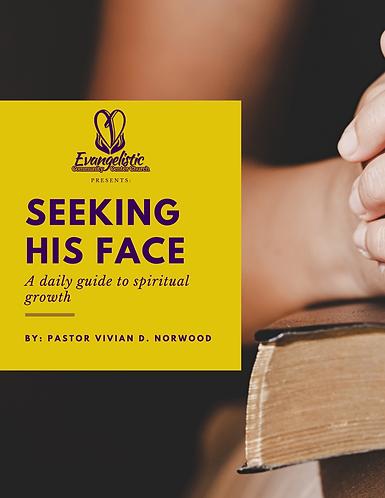 Digital Prayer Journal- Seeking His Face: A Daily Guide to Spiritual Growth